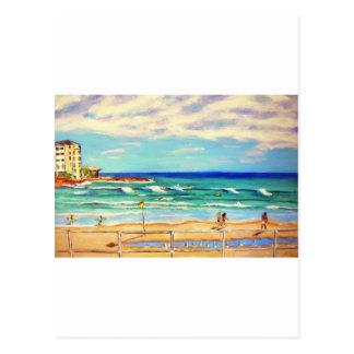 Cartão Postal Arte da praia de Bondi