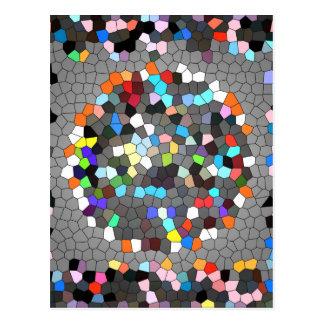 Cartão Postal Arte de cristal dos pontos dos pixéis
