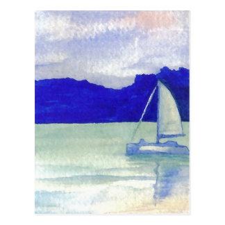 Cartão Postal Arte de navigação fácil calma do oceano de