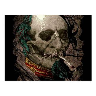 Cartão Postal Arte estranha de fumo do vintage do Stoner do