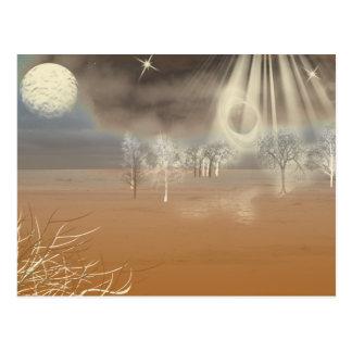Cartão Postal Arte marciana de Digitas da paisagem