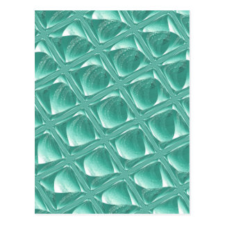 Cartão Postal Arte quadrada minimalista do abstrato de vidro da
