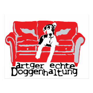 Cartão Postal Artgerechte Doggenhaltung