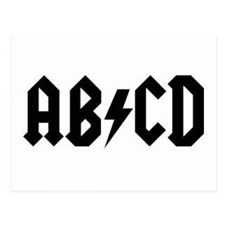 Cartão Postal Artigo de ABCD