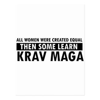Cartão Postal Artigos do presente de Krav Maga