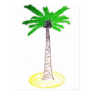 Cartão Postal Árvore de coco