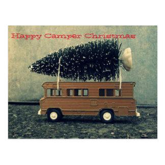 Cartão Postal Árvore de Natal do campista feliz