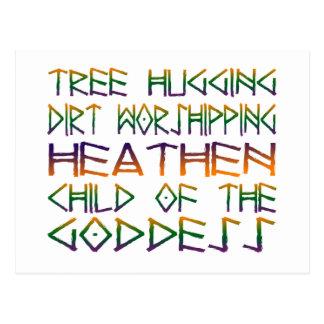 Cartão Postal árvore que abraça o worshipper da sujeira