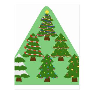 Cartão Postal Árvores de Natal