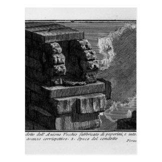 Cartão Postal As antiguidade romanas, T. 1, placa XI. Paredes