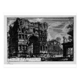 Cartão Postal As antiguidade romanas, T. 1, placa XXI. Arco de…