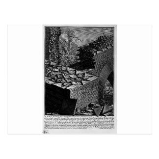 Cartão Postal As antiguidade romanas, T. 3, placa V. Construção