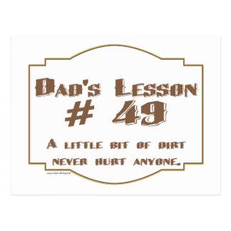 Cartão Postal As palavras do pai da sabedoria em presentes do