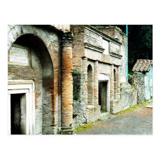 Cartão Postal As ruínas de Pompeii - mercado com templos