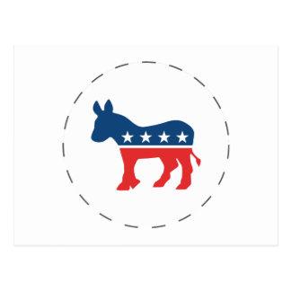 Cartão Postal Asno de Democrata