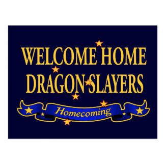 Cartão Postal Assassinos Home bem-vindos do dragão