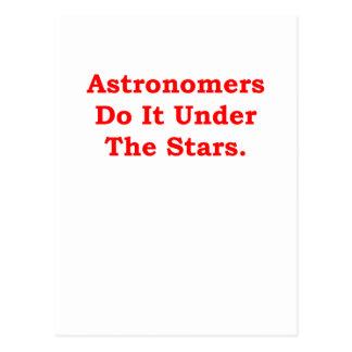 Cartão Postal astrónomo da astronomia