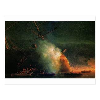 Cartão Postal Ataque da mina por Ivan Aivazovsky