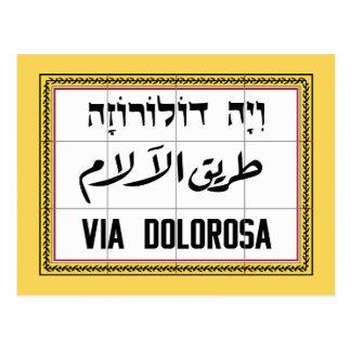 Cartão Postal Através de Dolorosa, rua de Jerusalem, Israel