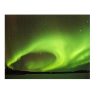 Cartão Postal Aurora boreal