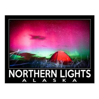 Cartão Postal Aurora boreal Alaska