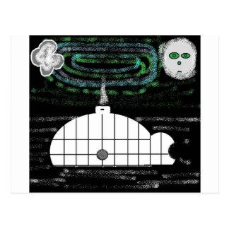 Cartão Postal aurora boreal do iglu