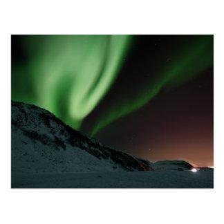 Cartão Postal Aurora boreal Noruega da Aurora
