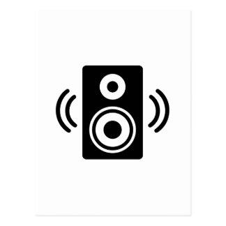 Cartão Postal Auto-falante da música