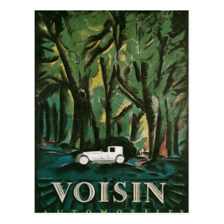 Cartão Postal Automóveis de Voisin
