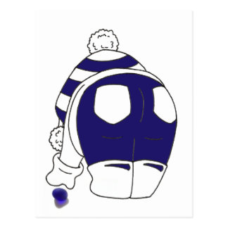 Cartão Postal Azuis cobaltos Seaglass