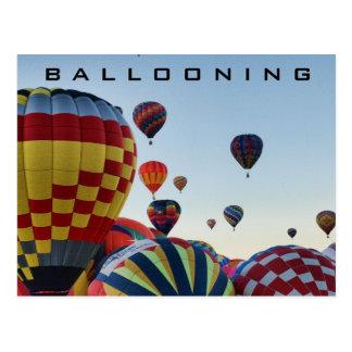 Cartão Postal Balão de ar quente - Ballooning
