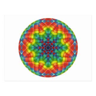 Cartão Postal Balão de ar quente Kaleidoscopic 4
