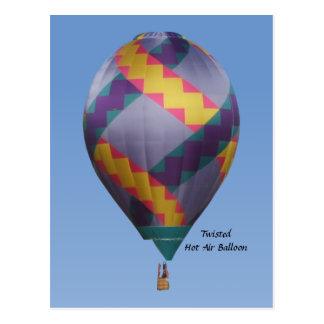 Cartão Postal Balão de ar quente torcido