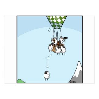 Cartão Postal Ballooning da vaca