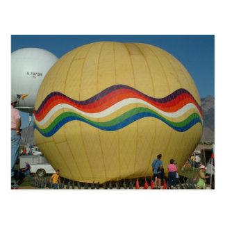 Cartão Postal Ballooning do gás da festa do balão