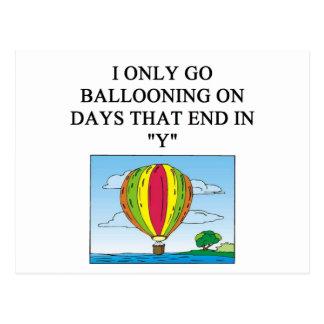 Cartão Postal balloonist ballooning