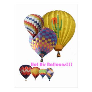 Cartão Postal Balões de ar quente!!! Colagem