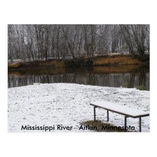 Cartão Postal Banco no rio Mississípi