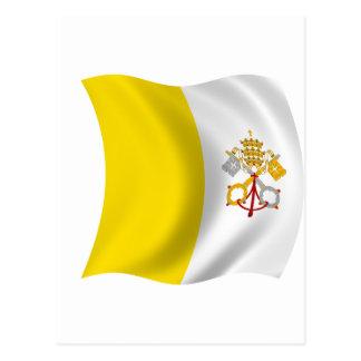 Cartão Postal Bandeira da Cidade do Vaticano