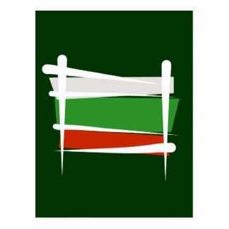 Cartão Postal Bandeira da escova de Bulgária
