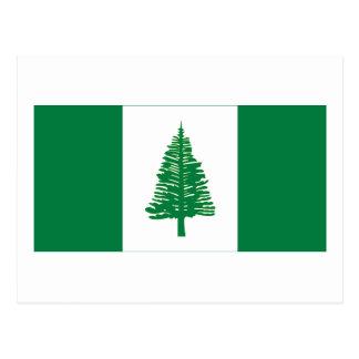 Cartão Postal Bandeira da ilha Norfolk