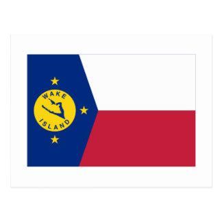 Cartão Postal Bandeira da Ilha Wake