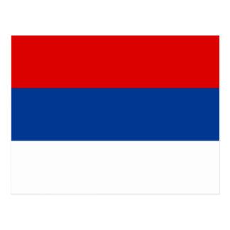 Cartão Postal Bandeira da República Sérvia