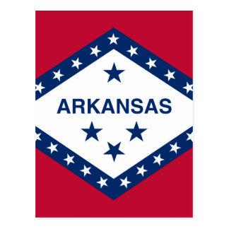 Cartão Postal Bandeira de Arkansas