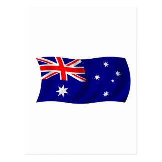 Cartão Postal Bandeira de Austrália
