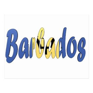 Cartão Postal Bandeira de Barbados