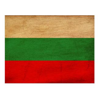 Cartão Postal Bandeira de Bulgária
