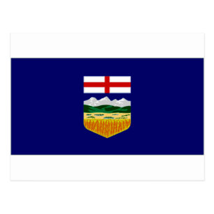 Cartão Postal Bandeira de Canadá Alberta