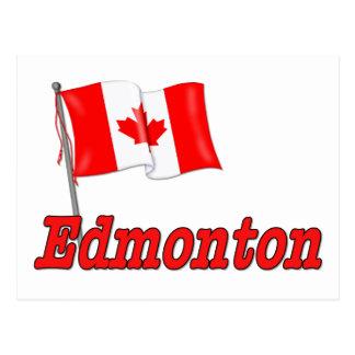 Cartão Postal Bandeira de Canadá - Edmonton