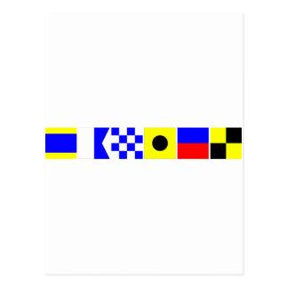 Cartão Postal Bandeira de código Daniel